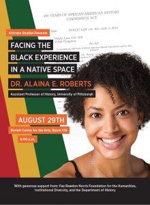 Alaina Roberts talk event poster