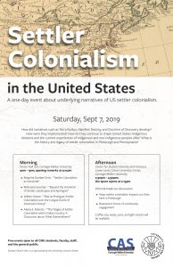 Event poster for Colonialism in the United States